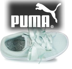 New Puma Basket Heart Canvas